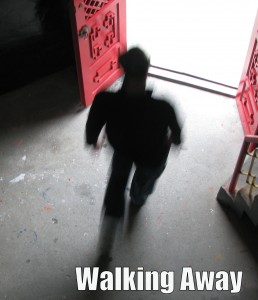 walking away text